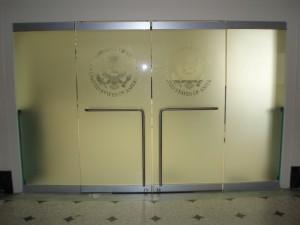 commercial glass door installation