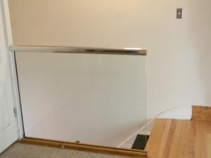 glass handrails installation